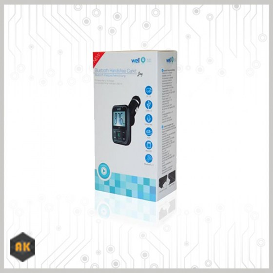 Car Mp3 Transmitter με λειτουργία handsfree WELL FMTRANS-BT-JOY-WL